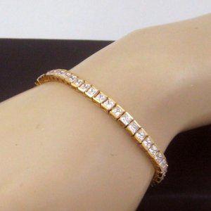 🌟 🌟 18K Gold over SS Tennis Bracelet CZ